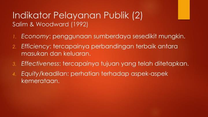 Indikator Pelayanan Publik (2)