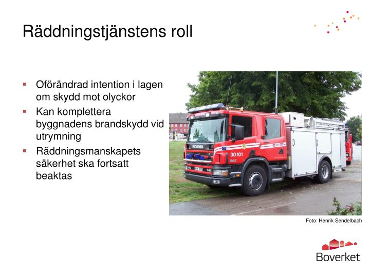 Räddningstjänstens roll