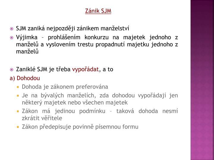 Znik SJM