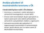 anal za p soben sil mezin rodn ho terorismu v r