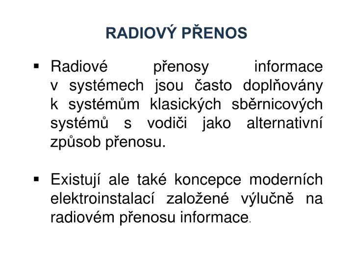Radiový přenos
