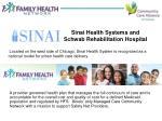 sinai health systems and schwab rehabilitation hospital