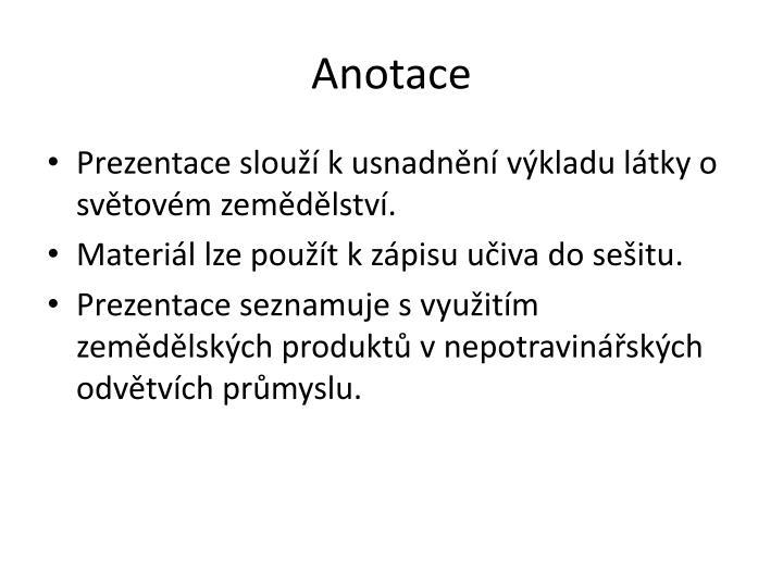 Anotace