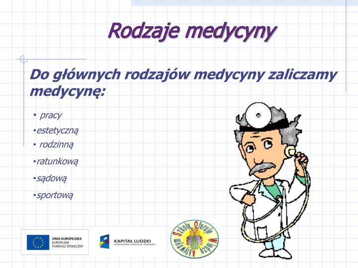 Rodzaje medycyny