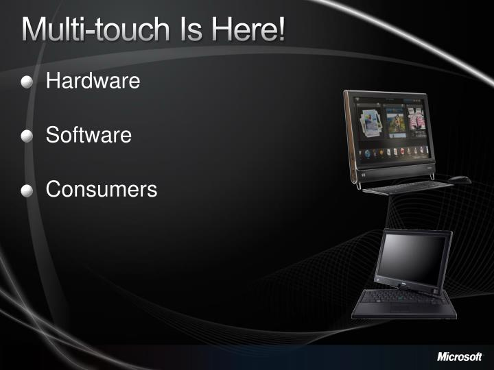 Multi-touch Is Here!