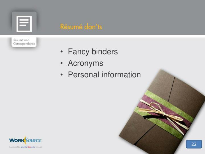 Fancy binders