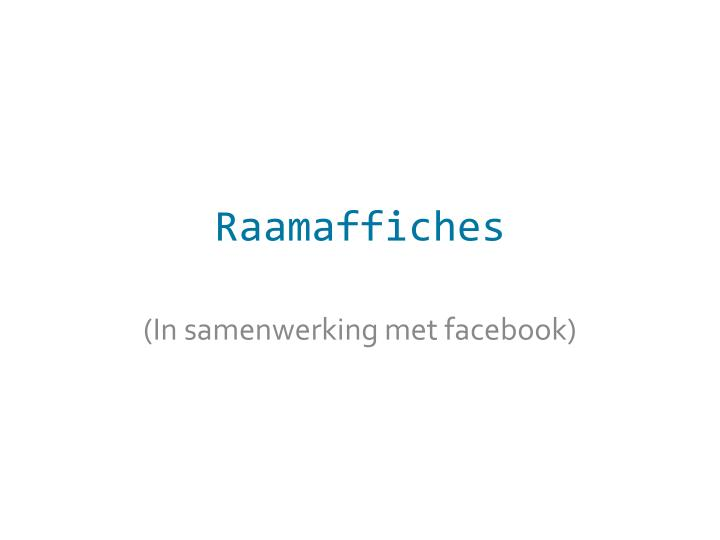 Raamaffiches