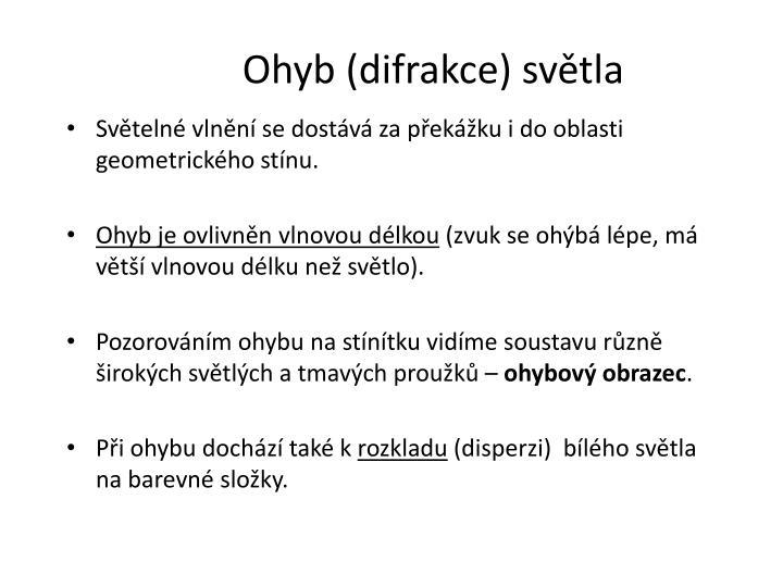Ohyb (difrakce)