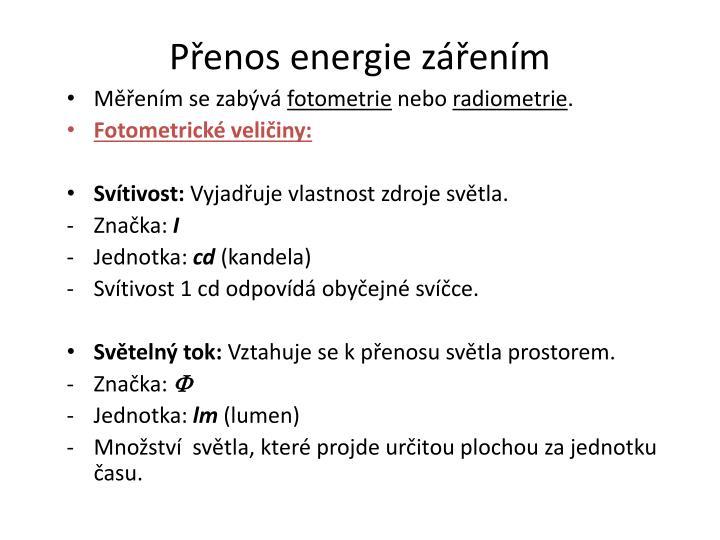 Přenos energie zářením