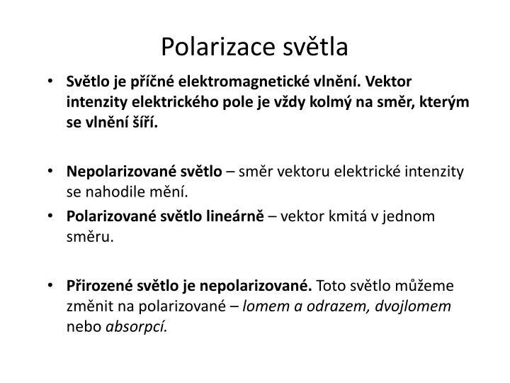 Polarizace