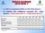 alokace povolenek 2013 2020 i