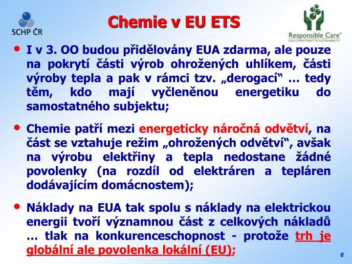 Chemie v EU ETS
