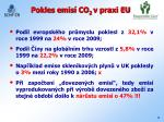 pokles emis co 2 v praxi eu