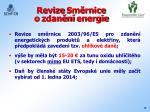 revize sm rnice o zdan n energie