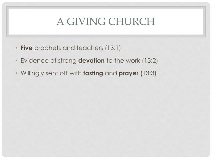 A giving church