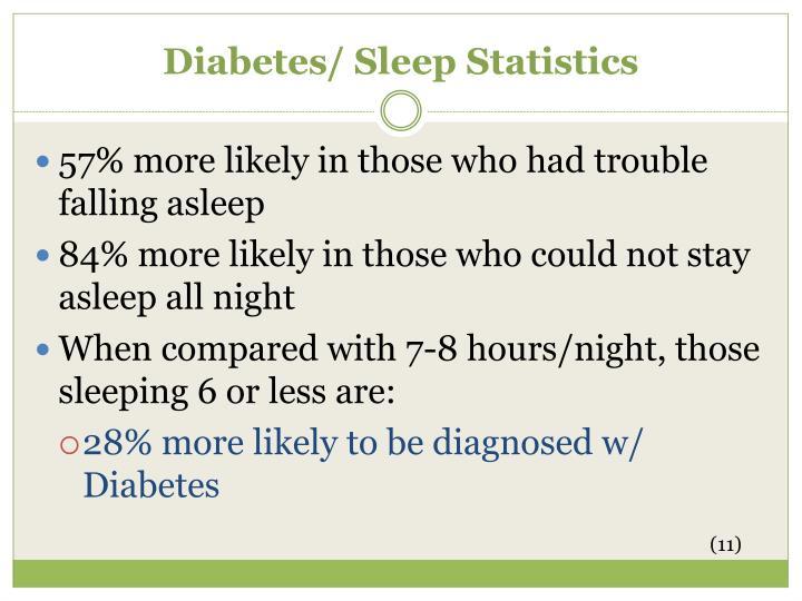 Diabetes/ Sleep Statistics