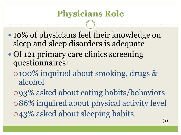 Physicians Role