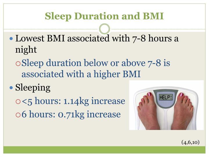Sleep Duration and BMI