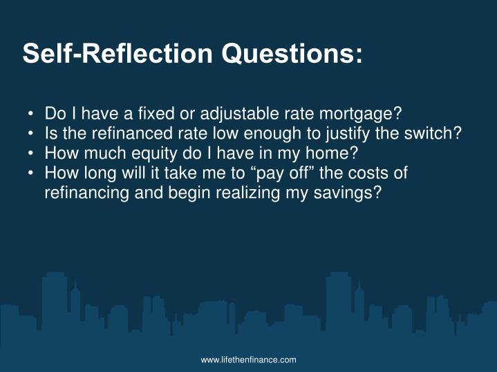 Self-Reflection Questions: