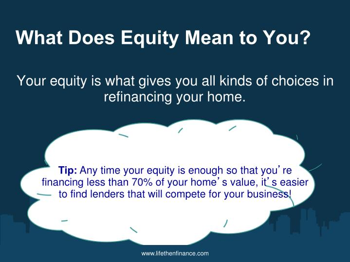 What Does Equity Mean to You?
