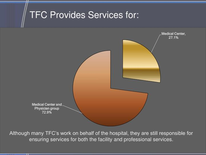 TFC Provides Services for: