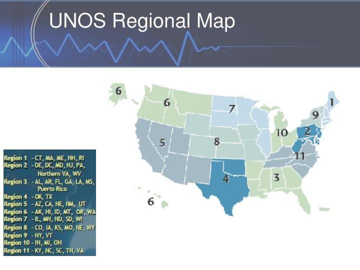UNOS Regional Map