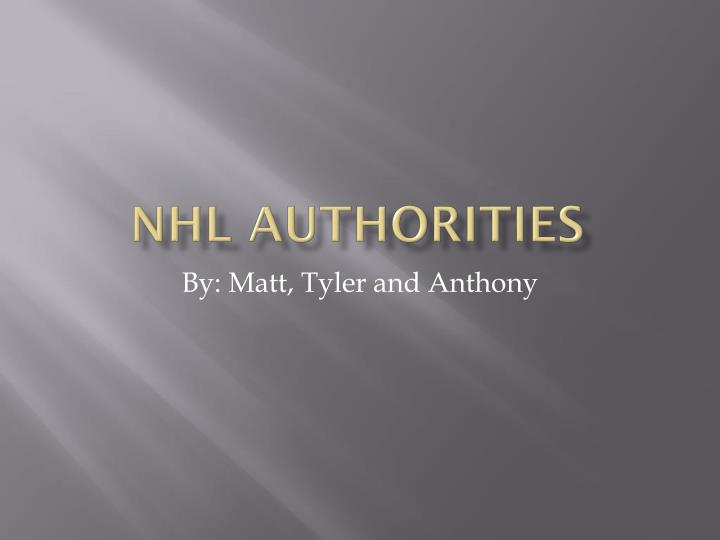 NHL Authorities