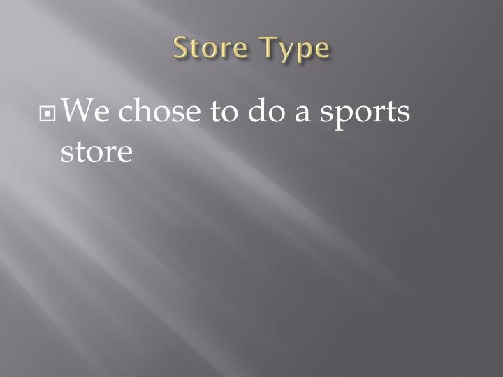 Store Type