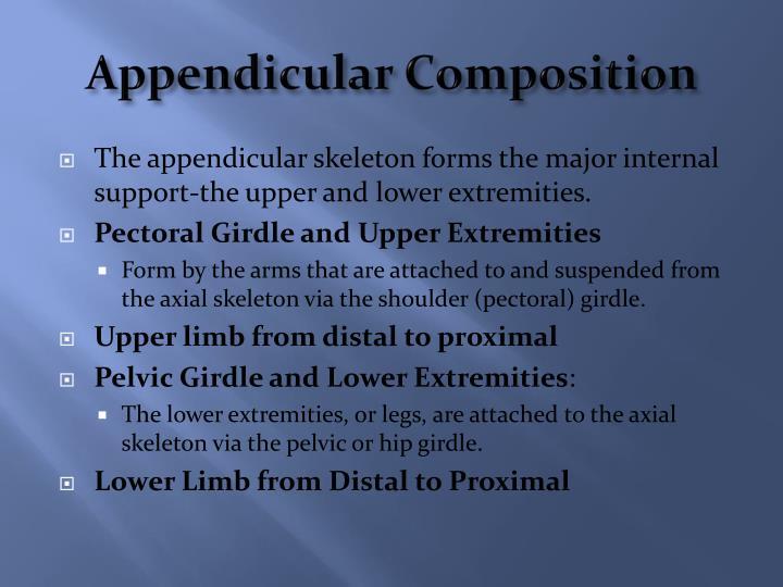 Appendicular Composition