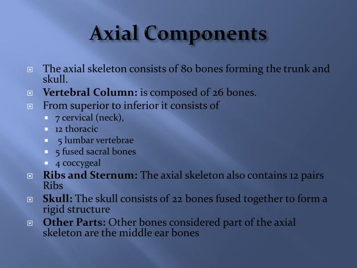 Axial components