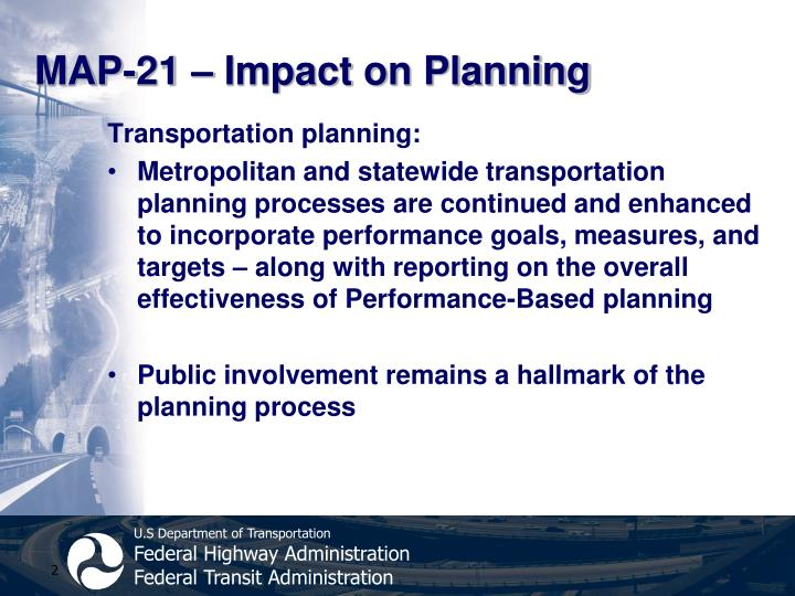 MAP-21 – Impact on Planning