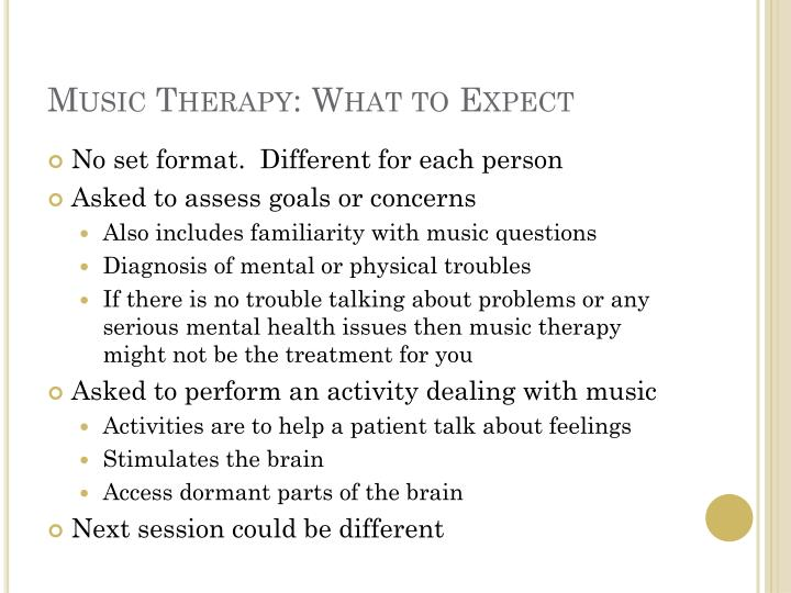 Music therapy what to expect