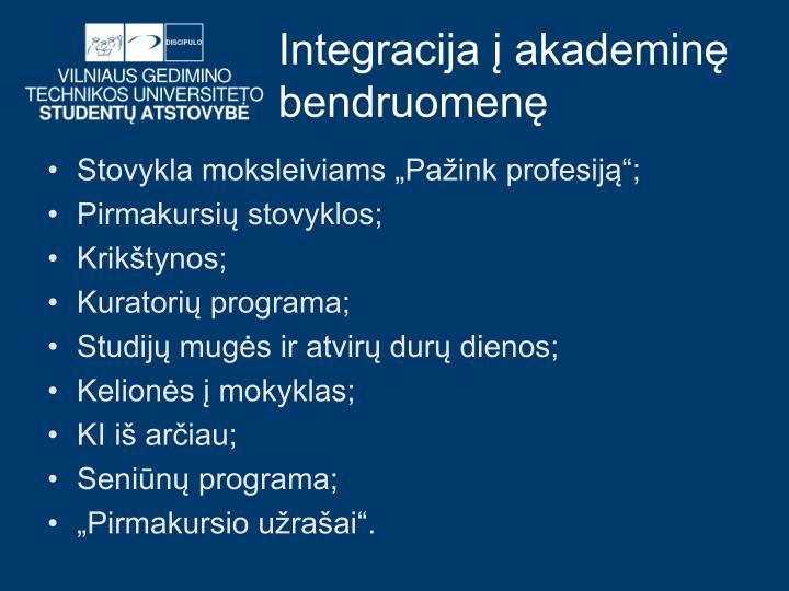 Integracija į akademinę bendruomenę