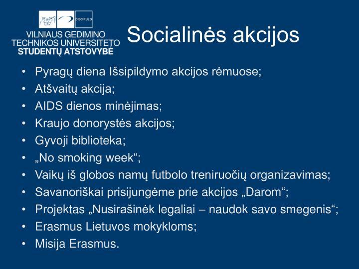 Socialinės akcijos