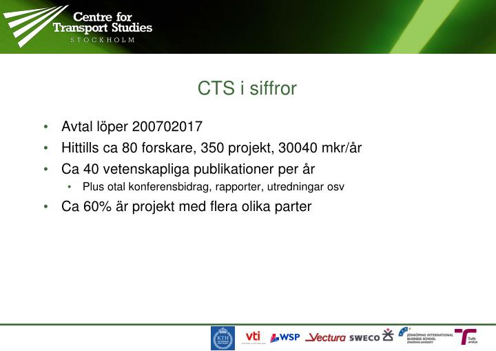 CTS i siffror