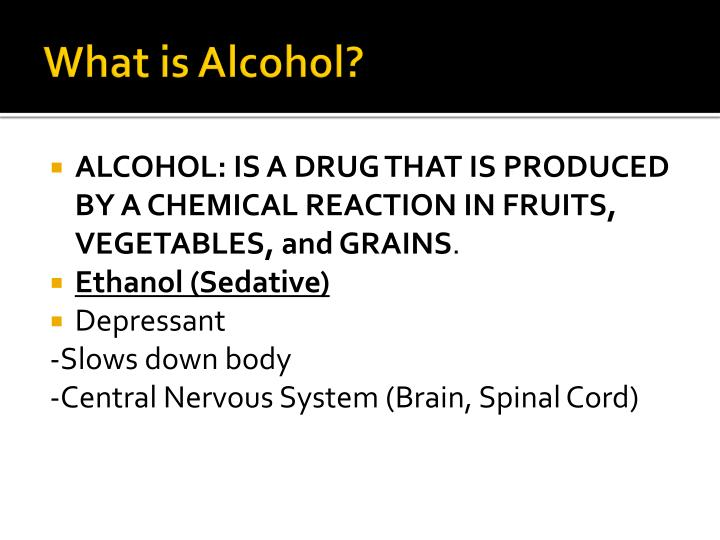 What is Alcohol?