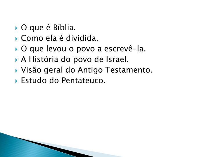 O que é Bíblia.