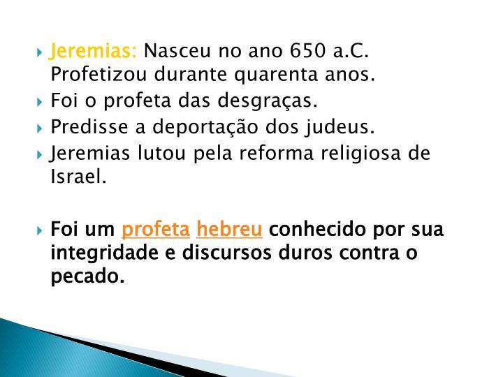 Jeremias:
