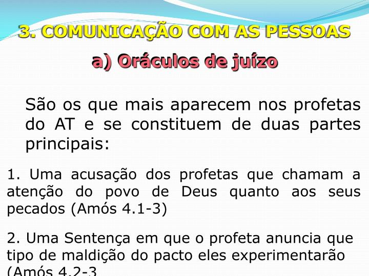 3. COMUNICAÇÃO COM AS PESSOAS