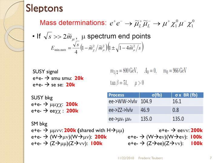 Sleptons