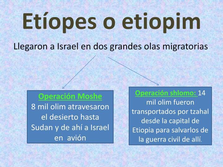 Etíopes o