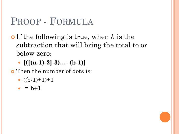 Proof - Formula