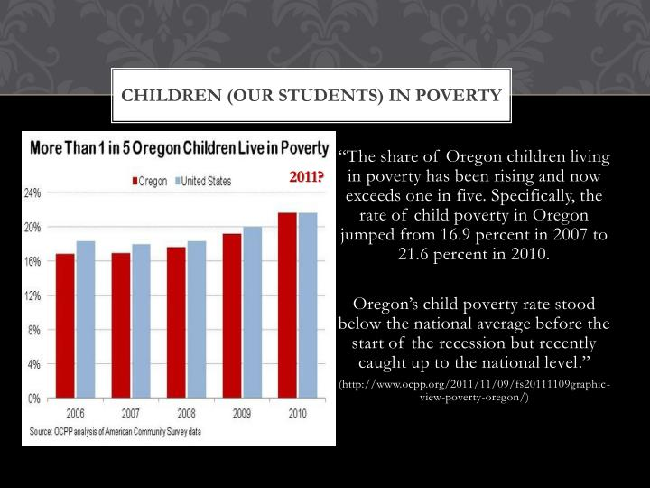 Children (our students) in Poverty