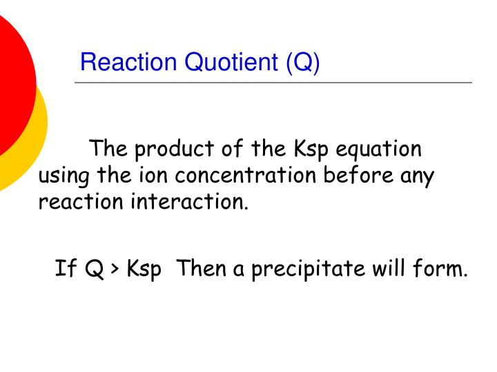 Reaction Quotient (Q)