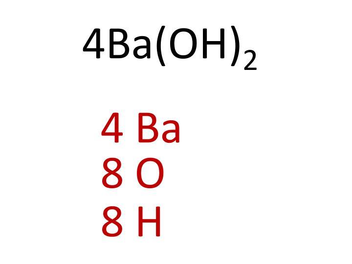 4Ba(OH)