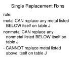 single replacement rxns3