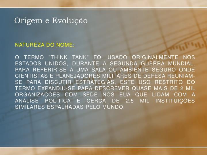 NATUREZA DO NOME: