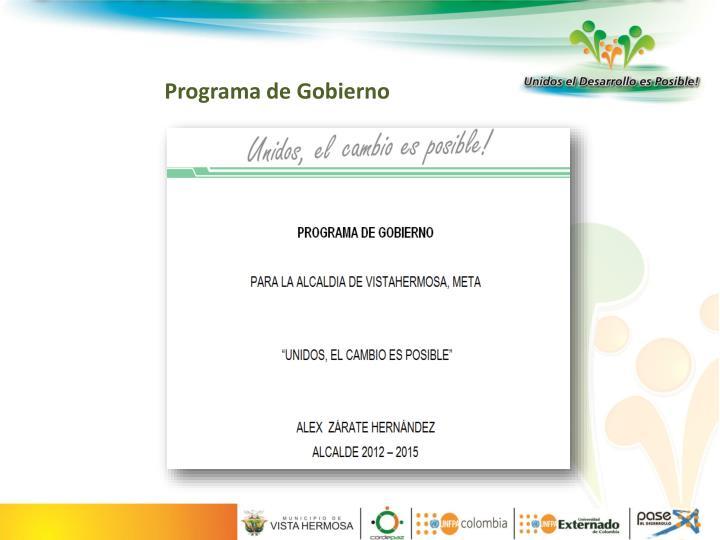 Programa de Gobierno