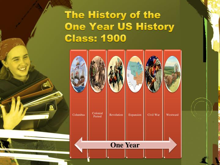 The History of the One Year US History Class: 1900