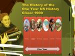 the history of the one year us history class 1900
